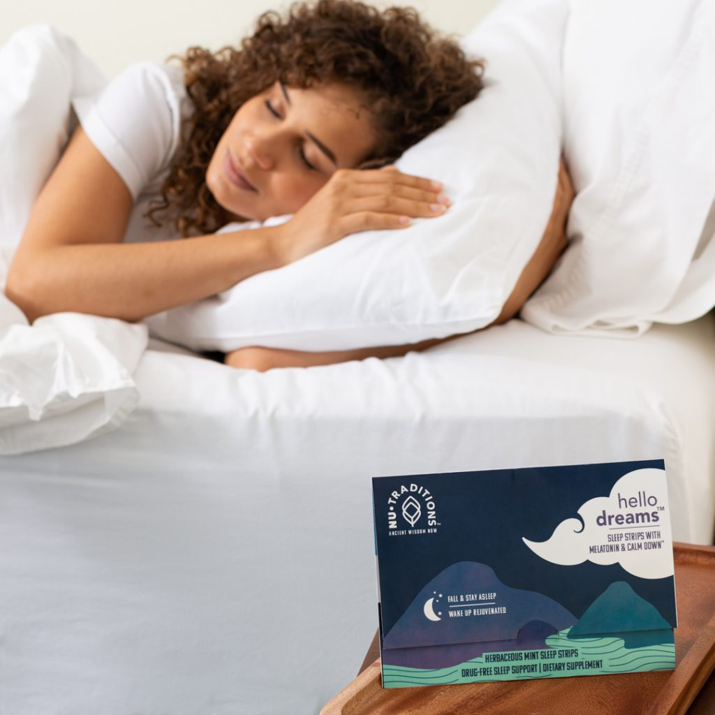 person resting after taking NuTraditions Hello Dreams sleep strips